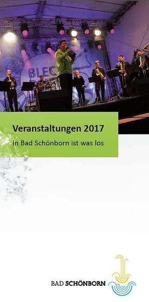 """Die Titelseite der Veranstaltungsbroschüre 2017 """"In Bad Schönborn ist was los"""""""
