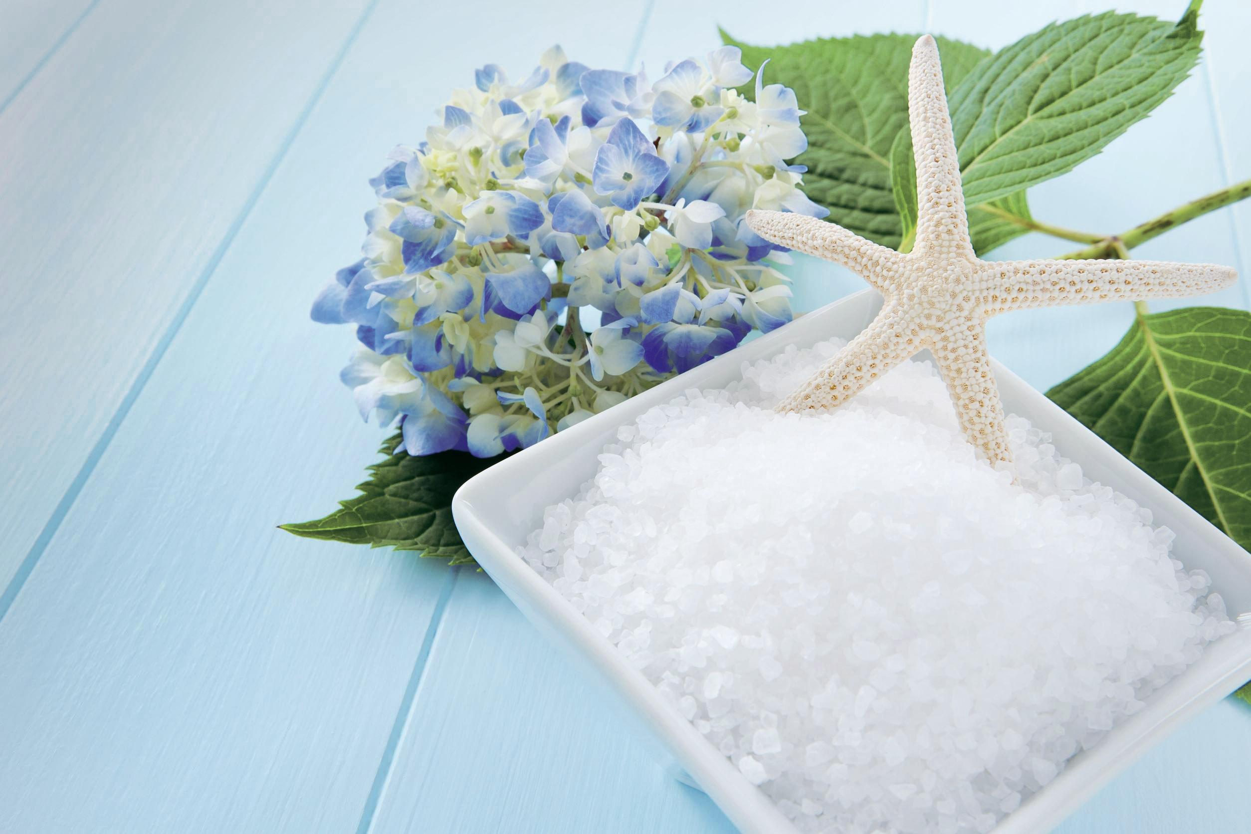Salz mit Seestern