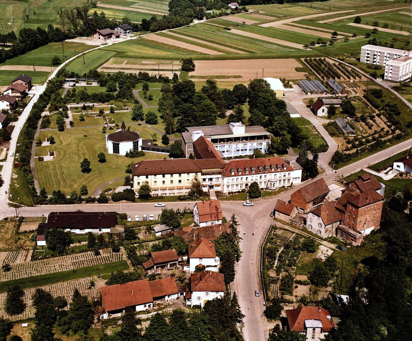 Rochusklinik und Umgebung 1965