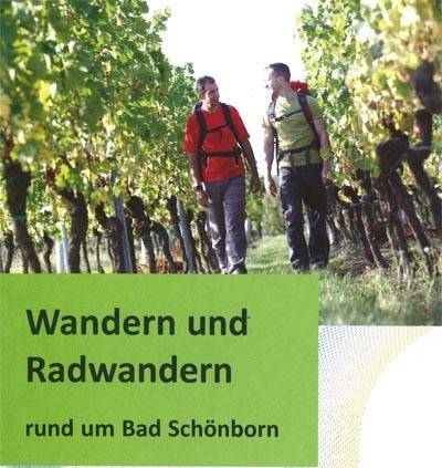 Titelblatt der Karte Wandern und Radwandern in Bad Schönborn