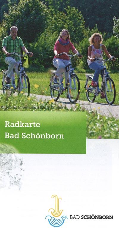 Titelblatt der Radkarte für Bad Schönborn