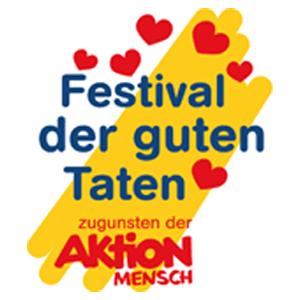 Logo Festival der guten Taten zugunsten der Aktion Mensch
