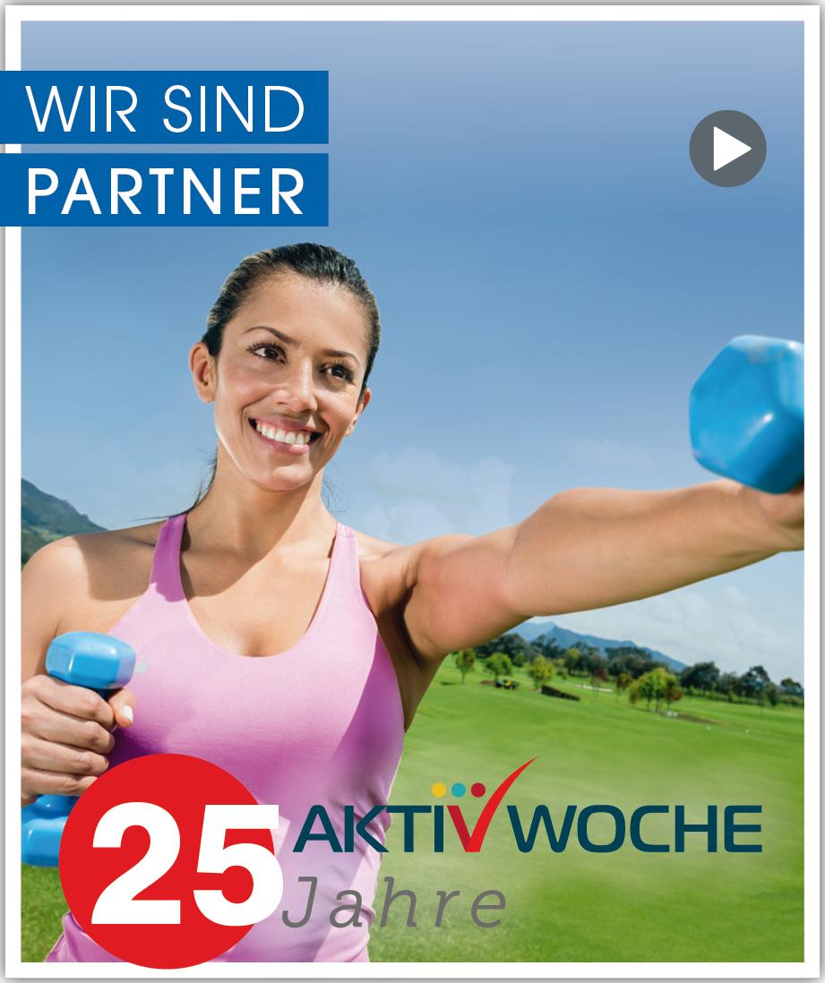 Banner Wir sind Partner - 25 Jahre Aktivwoche