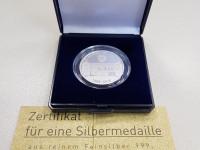 Gedenkprägung für Jubiläum 750 Jahre Bad Langenbrücken in Silber mit Zertifikat