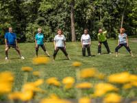 Sportgruppe im Sole-Aktiv-Park Bad Schönborn