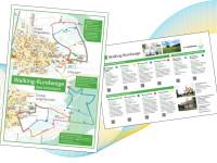 Walking Rundwege Flyer mit Beschreibung