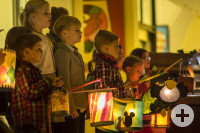 Schüler der Musikschule Mehrklang beim Laternenvorspiel 2017