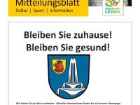 Mitteilungsblatt Bad Schönborn KW13-2020 Titelseite