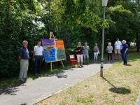 """Einweihung der Open-Air-Kunstausstellung """"Ansichten"""" auf der Schönbornallee"""