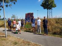 Künstlergruppe Kukuk beim zweiten Teil der Open-Air-Ausstellung