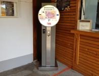 Der Bad Schönborner Null-Euro-Schein-Automat steht nun im Sole-Aktiv-Park