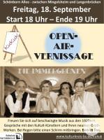 Plakat zur Veranstaltung Open-Air-Vernissage