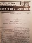 Titelblatt erstes gemeinsames Mitteilungsblattes Bad Schönborns 1971