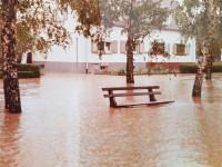 Hochwasser in Langenbrücken im Mai 1978