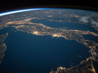 Weltall Italien Lichter