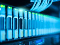 Close-up Server Technologie