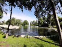 See mit Fontäne im sole aktiv park