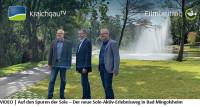 Herr Huge, Herr Heinzmann, Herr Hoppe vor dem See im Sole-Aktiv-Park