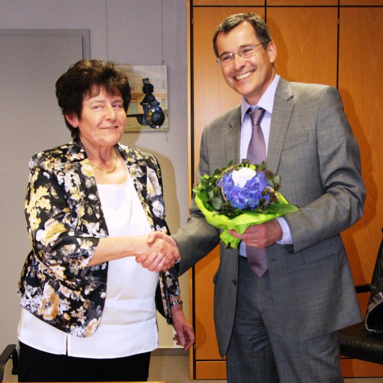 Frau Betz und Bürgermeister Huge
