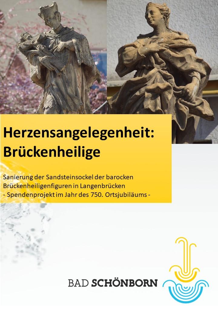 Titelseite der Broschüre Brückenheilige