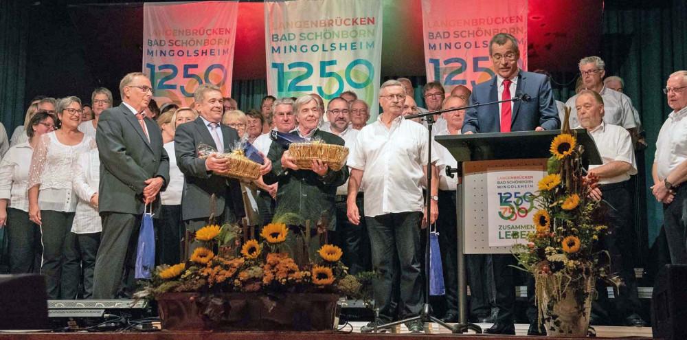 Festlicher Ehrungsabend im Rahmen des 750-jährigen Jubiläums von Langenbrücken