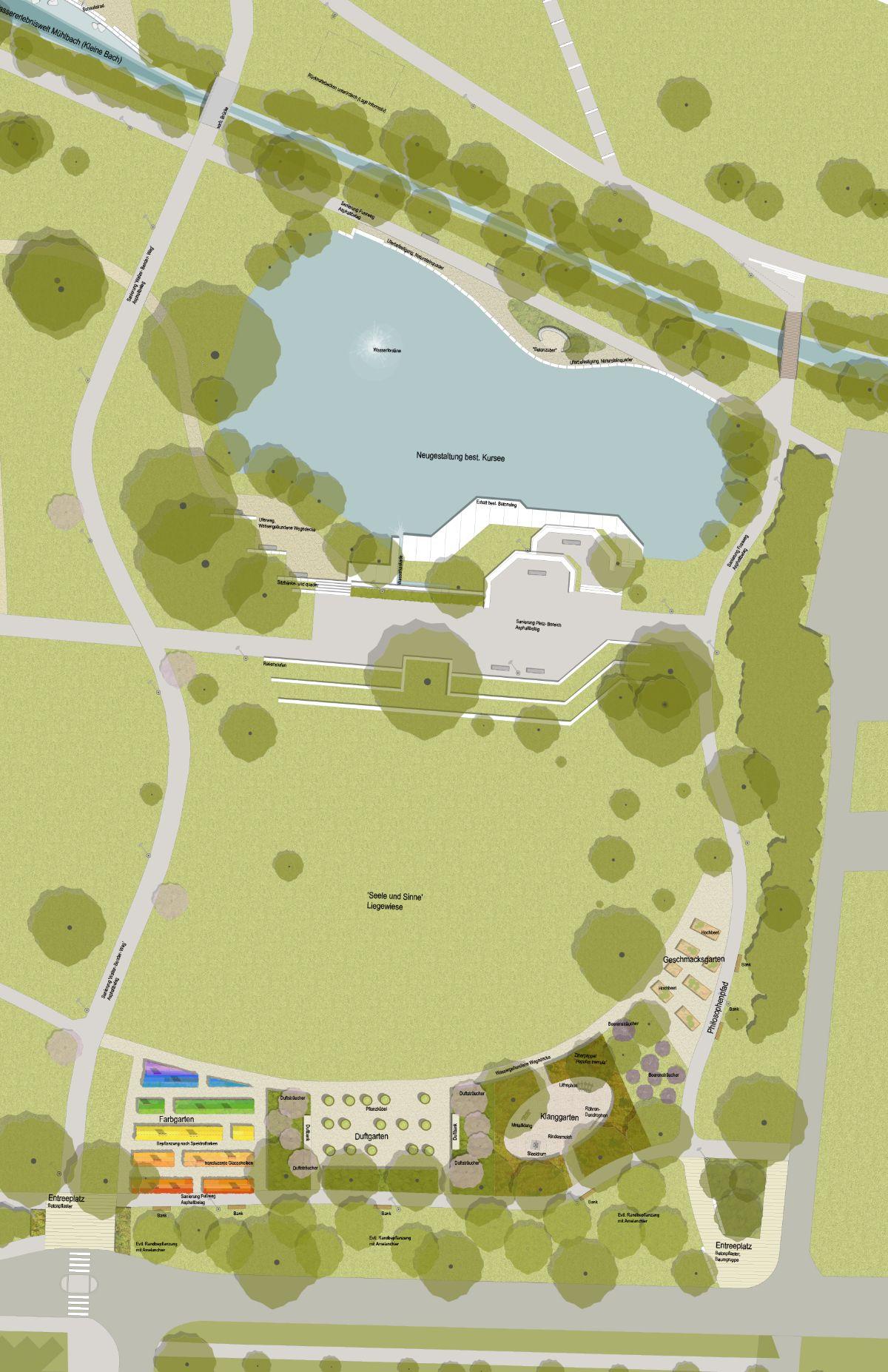 Sole-Aktiv-Park Sinnesgärten mit Kursee