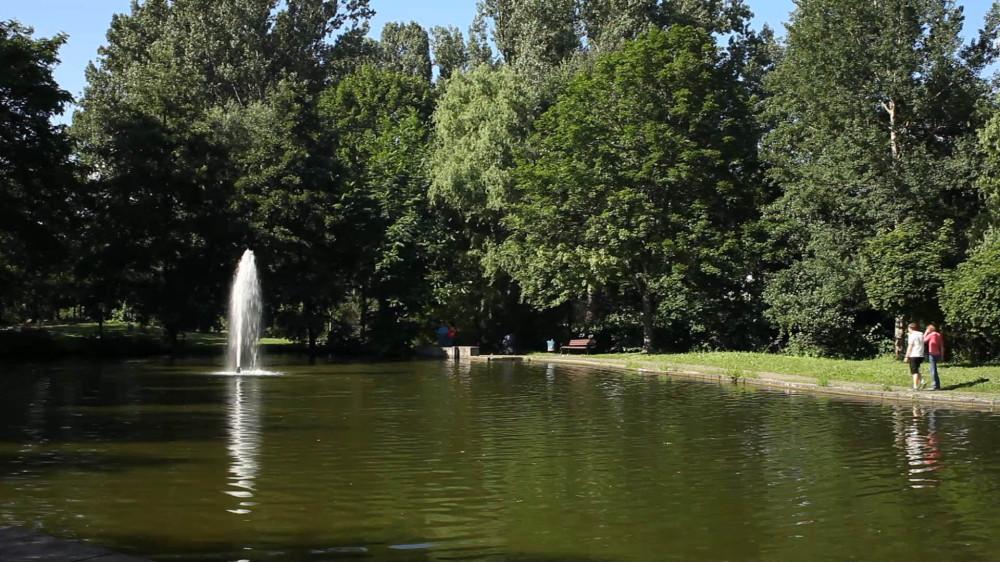 Der See im Kurpark Bad Schönborn vor der Sanierung