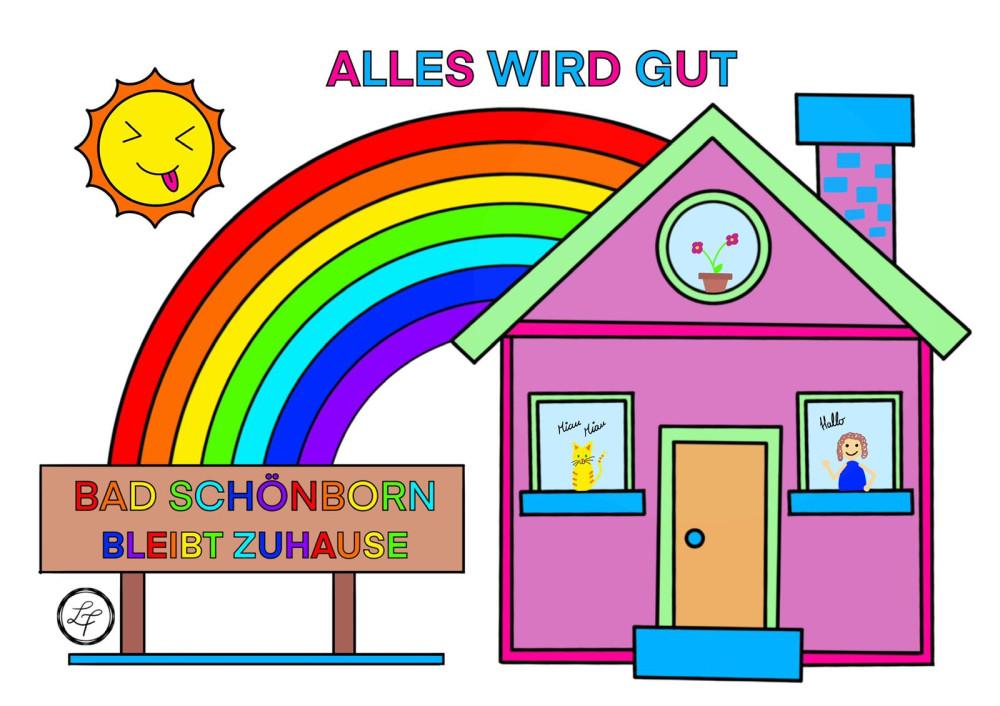 Bad Schönborn bleibt zuhause - Ausgemalt