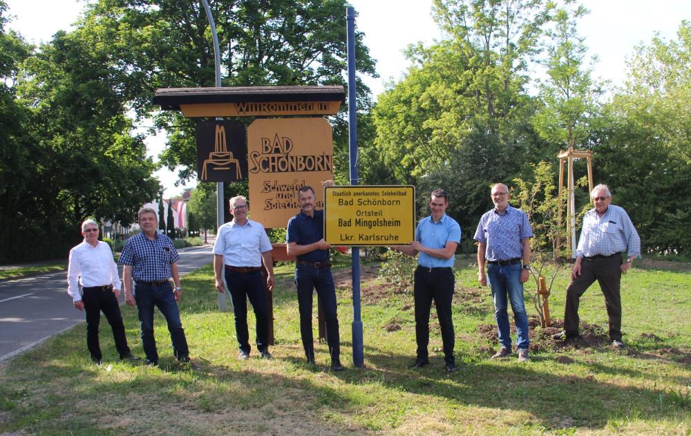 Einweihung der neuen Ortsschilder Bad Schönborn