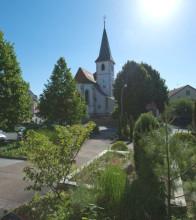 Ortskern Langenbrücken, Ansicht der Kirche