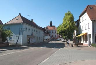 Ortskern Langenbrücken, Aufnahme der Haputstraße