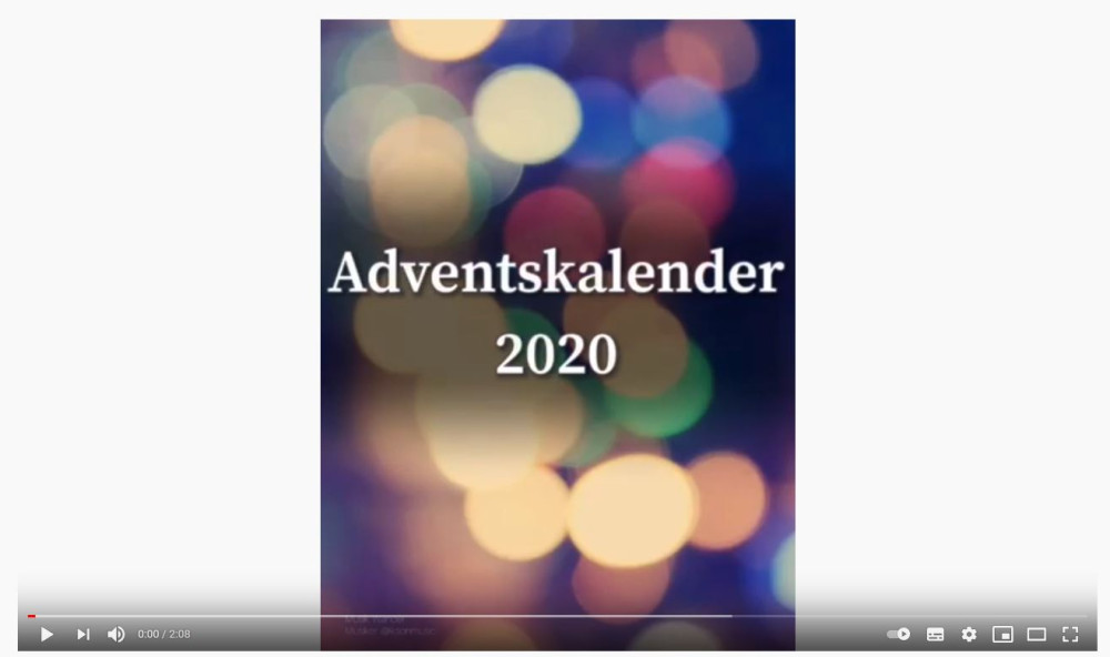 Youtube Link zu Adventskalender Video