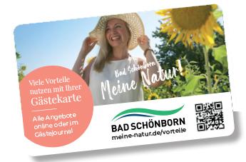 Ansicht der Gästekarte Bad Schönborn 2021