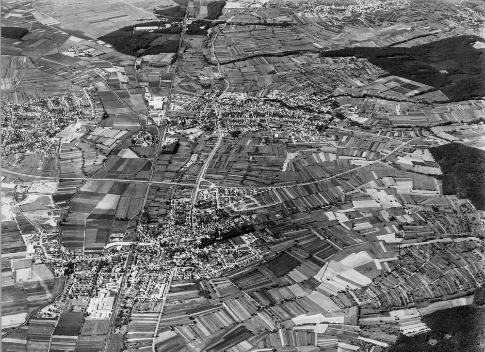 Luftaufnahme Bad Schönborn Mai 1973