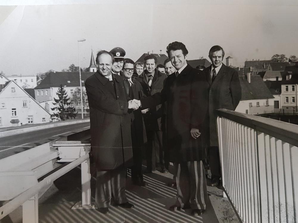 Einweihung Bahnüberführung in Langenbrücken