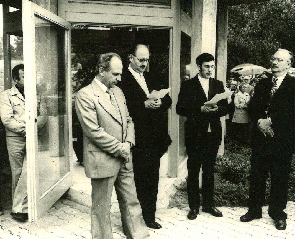Namensgebung der Heilquelle im Kurpark Mingolsheim am 04.09.1977