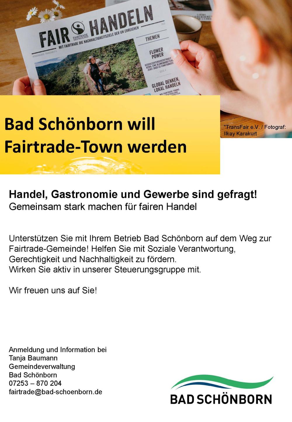 Plakat Fairtrade Town