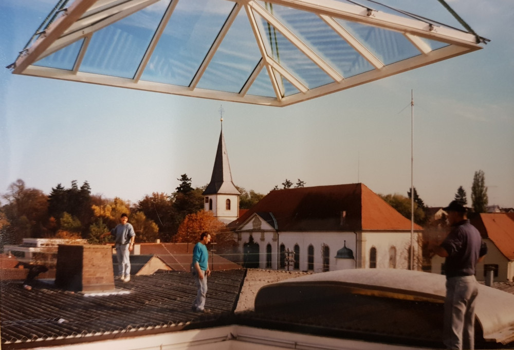 Rathaus Langenbrücken Oberlicht Umbau