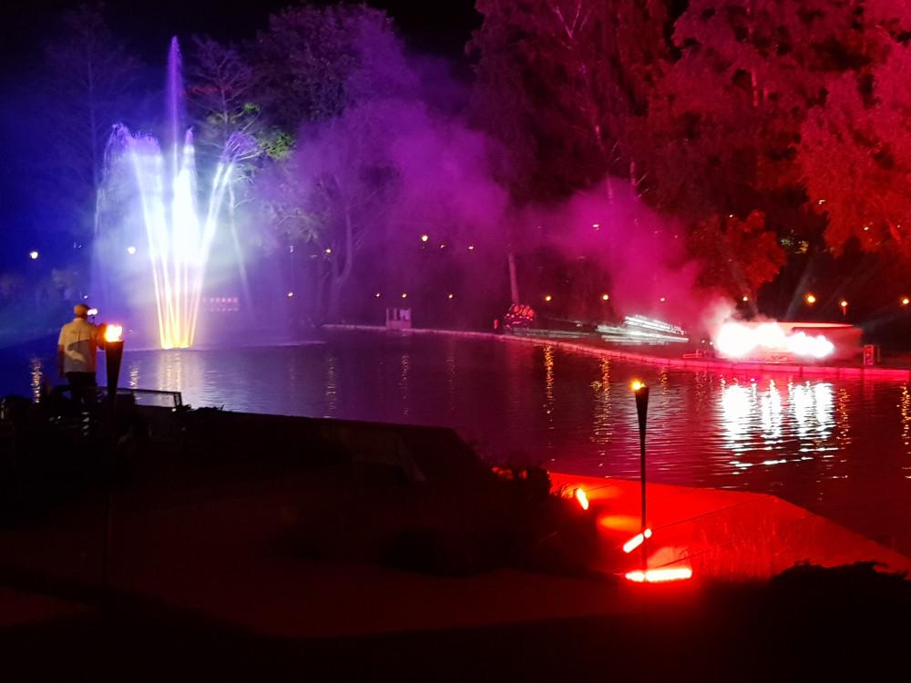 Kursee Beleuchtung fontäne bunt