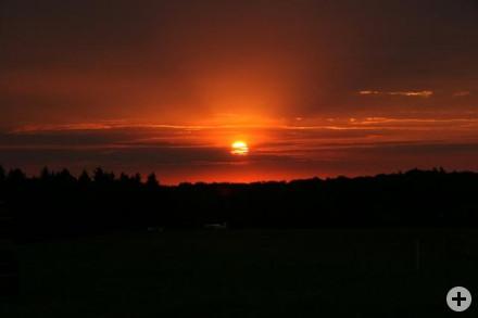 Sonnenuntergang Landesjamboree 2007 Bruchsal