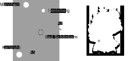 Lageplan Gemeinde Bad Schönborn